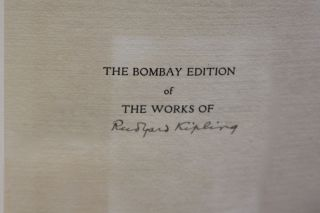 The Bombay Edition Of The Works Of Rudyard Kilping